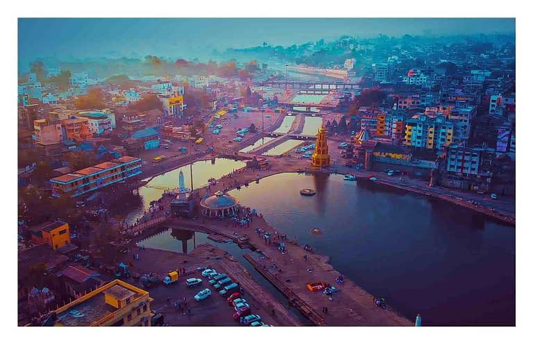 Nashik Drone view of Panchvati