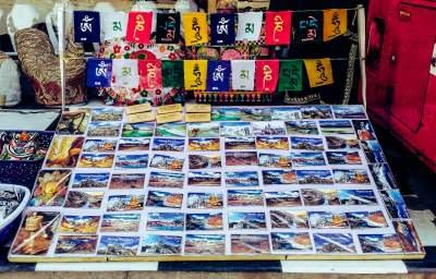 Postcards and door magnets of places in Ladakh